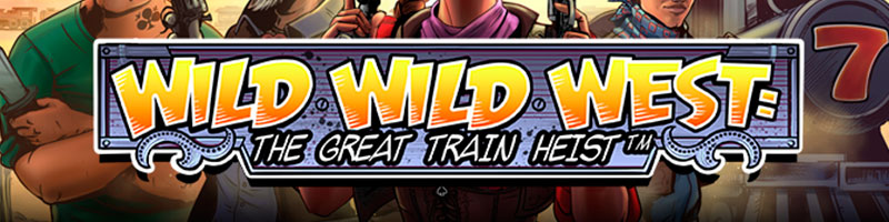 50 bonus spins on Wild Wild West The great train Heist from PlayFrank - view