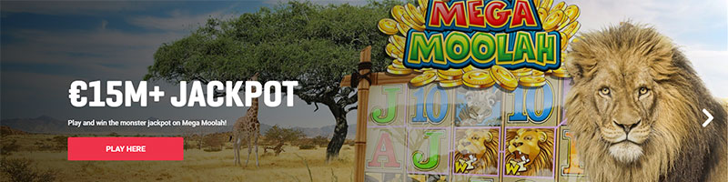 15 Million Euro Mega Moolah Jackpot - view