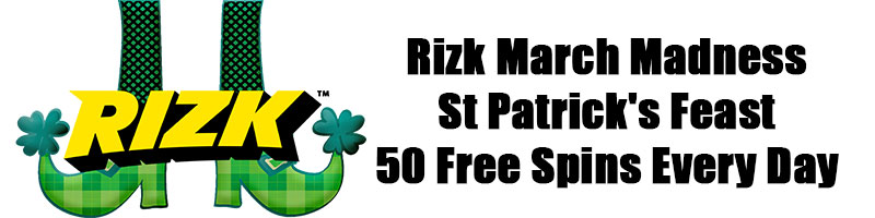 Rizk March Madness 50 Free Spins Every Day - view