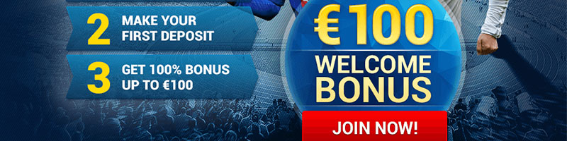 REGISTER AND RECEIVE 100 EUR BONUS