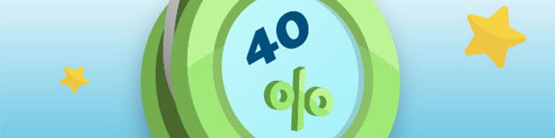 Claim a 40 percent deposit match of up to 100 EUR - view
